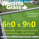 6ft x 9ft Multi Usage Synthetic Artificial Grass