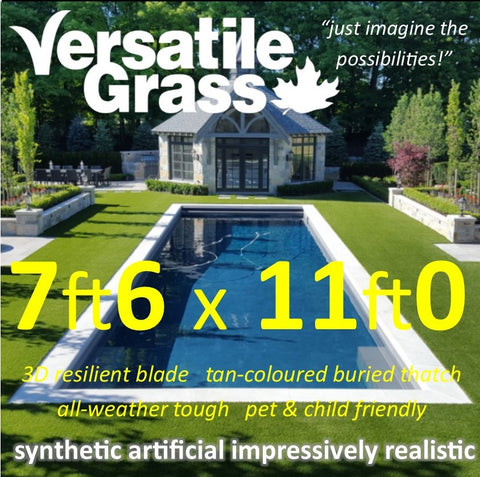 7ft6 x 11ft Multi Usage Synthetic Artificial Grass