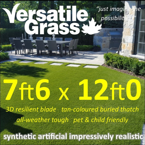 7ft6 x 12ft Multi Usage Synthetic Artificial Grass