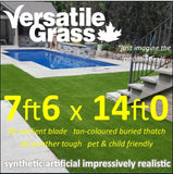 7ft6 x 14ft Multi Usage Synthetic Artificial Grass