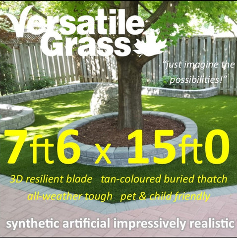 7ft6 x 15ft Multi Usage Synthetic Artificial Grass