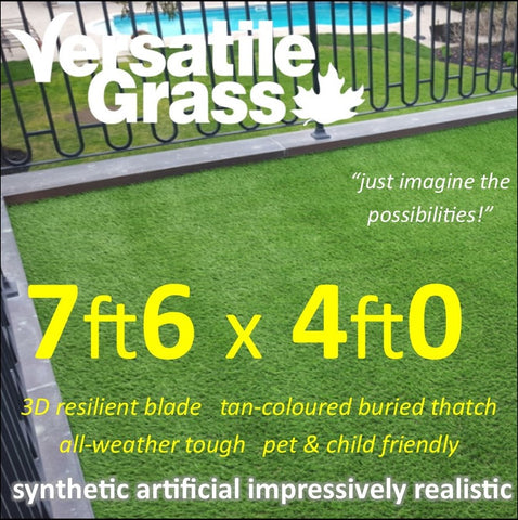 7ft6 x 4ft Multi Usage Synthetic Artificial Grass