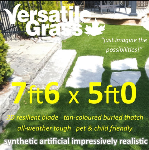 7ft6 x 5ft Multi Usage Synthetic Artificial Grass