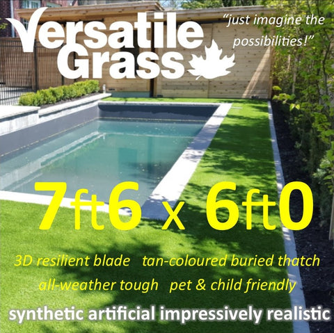 7ft6 x 6ft Multi Usage Synthetic Artificial Grass