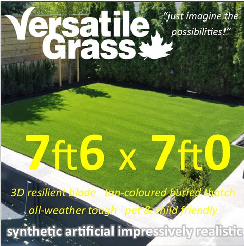 7ft6 x 7ft Multi Usage Synthetic Artificial Grass