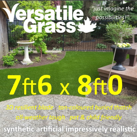 7ft6 x 8ft Multi Usage Synthetic Artificial Grass