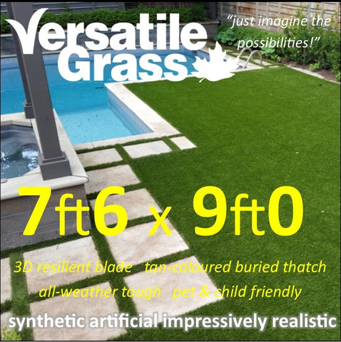 7ft6 x 9ft Multi Usage Synthetic Artificial Grass