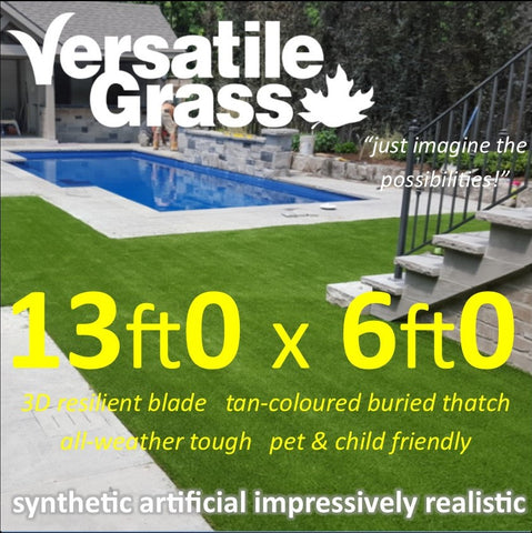 13ft x 6ft Multi Usage Synthetic Artificial Grass