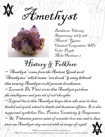 #Amethyst #Crystals #Gemstones #Folklore #GemstoneMeaning #AlphaVariable