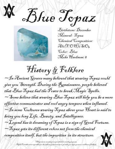 #BlueTopaz #Topaz #Crystals #Gemstones #Folklore #GemstoneMeaning #AlphaVariable