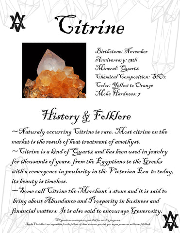 #Citrine #Crystals #Gemstones #Folklore #GemstoneMeaning #AlphaVariable