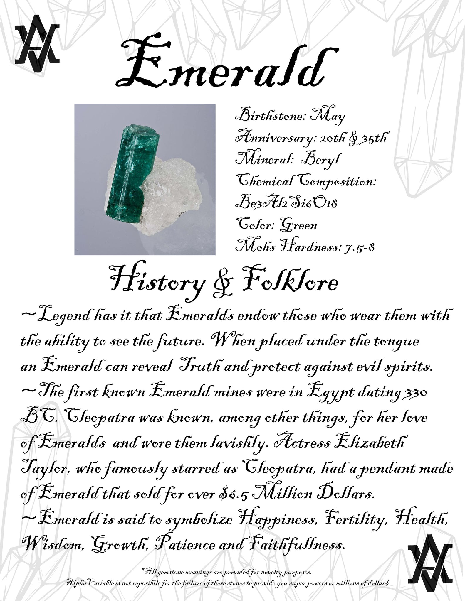 Emerald Crystal Gemstone Meaning History And Folklore