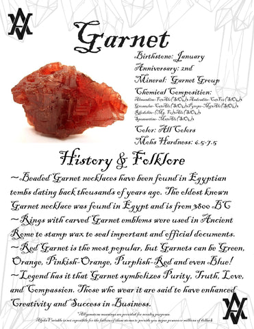 #Garnet #Crystals #Gemstones #Folklore #GemstoneMeaning #AlphaVariable