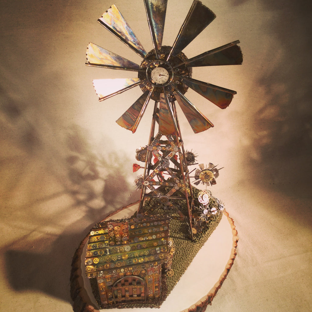 The Windmill Steampunk Sculpture