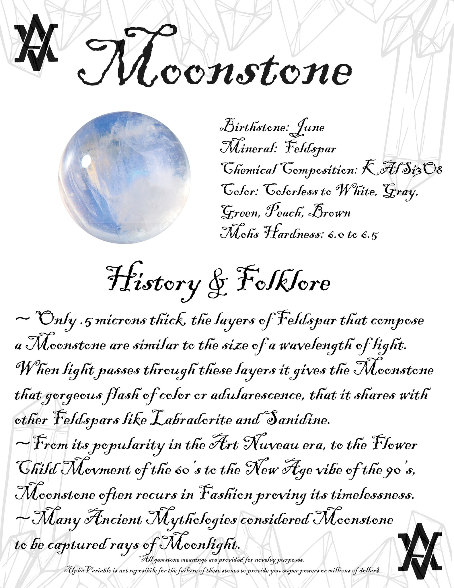 Moonstone Meaning History and Folklore