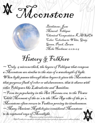 #Moonstone #Crystals #Gemstones #Folklore #GemstoneMeaning #AlphaVariable