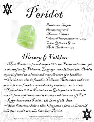 #Peridot #Crystals #Gemstones #Folklore #GemstoneMeaning #AlphaVariable
