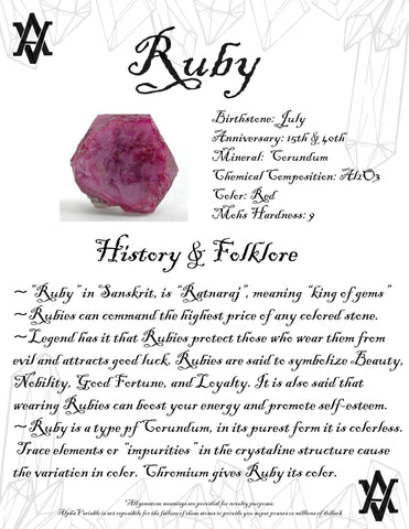 #Ruby #Crystals #Gemstones #Folklore #GemstoneMeaning #AlphaVariable
