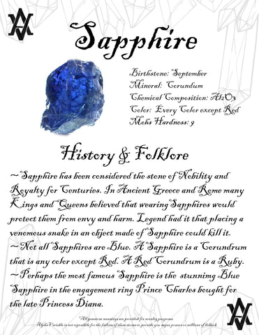#Sapphire #Crystals #Gemstones #Folklore #GemstoneMeaning #AlphaVariable