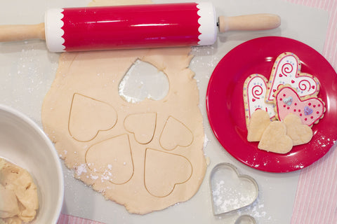 #RollingPin #Cookies #HeartCookies Love #ValentinesDay #CookieRecipes
