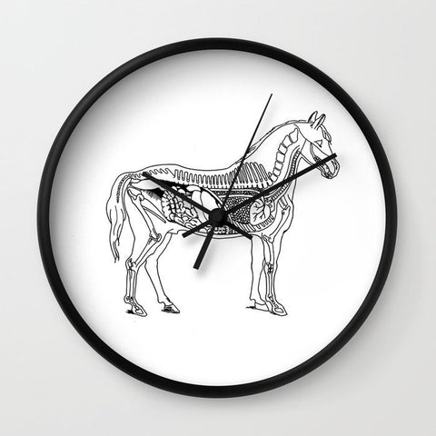 Horse Anatomy Clock - Clock - AlphaVariable