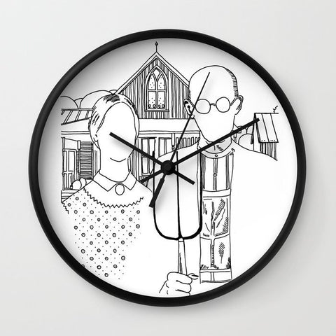 American Gothic Revival Clock - Clock - AlphaVariable