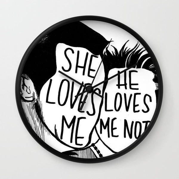 She Loves Me Clock - Clock - AlphaVariable
