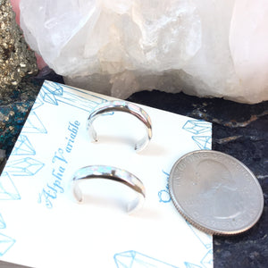 Sterling Silver Opal Hoop Earrings - Earrings - AlphaVariable LifeStyle Brand