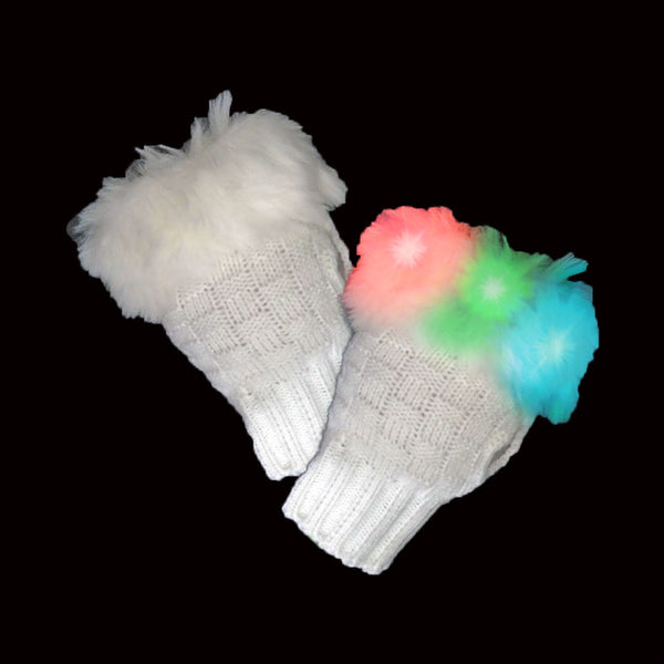 LED Fuzzy Gloves - LED Gear - AlphaVariable