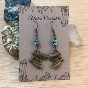 Bronze Binocular Earrings - Earrings - AlphaVariable