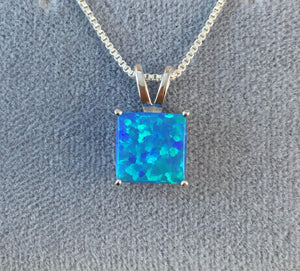 Blue Opal Necklace - Necklace - AlphaVariable