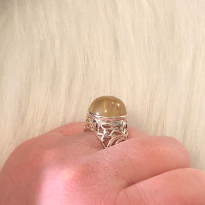 Crystal Ball Rutilated Quartz Ring - Ring - AlphaVariable