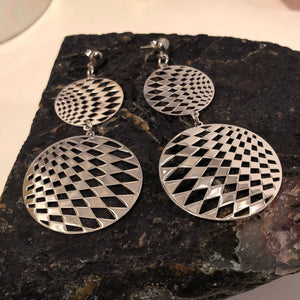 Disco Ball Sterling Silver Earrings - Earrings - AlphaVariable