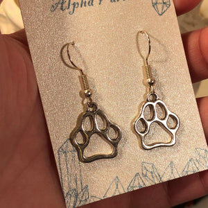 Dog Paw Earrings - Earrings - AlphaVariable