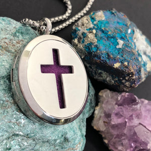 Cross Essential Oil Diffuser Necklace - Diffuser Necklace - AlphaVariable