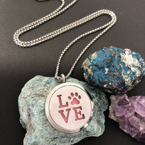 Dog Lover Essential Oil Diffuser Necklace - Diffuser Necklace - AlphaVariable