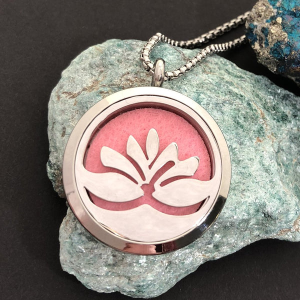 Lotus Flower Essential Oil Diffuser Necklace - Diffuser Necklace - AlphaVariable