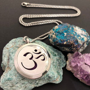 Om Essential Oil Diffuser Necklace - Diffuser Necklace - AlphaVariable