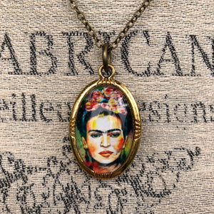 Frida Kahlo Necklace - Necklace - AlphaVariable