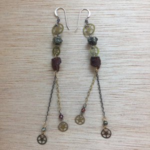 Steampunk Gear Earrings - Earrings - AlphaVariable