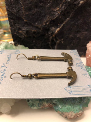 Hammer Earrings - Earrings - AlphaVariable