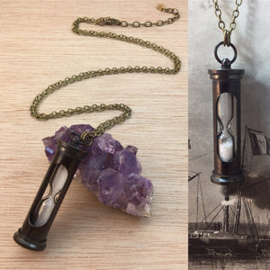 Hourglass Sand Timer Necklace - Necklace - AlphaVariable