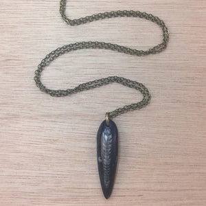 Orthoceras Fossil Necklace - Necklace - AlphaVariable