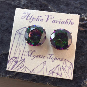 Mystic Topaz Stud Earrings - Earrings - AlphaVariable