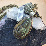 Labradorite Buddha Necklace - Necklace - AlphaVariable