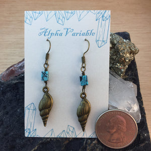 Seashell Earrings - Earrings - AlphaVariable