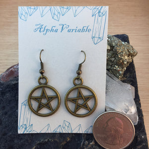Pentagram Earrings - Earrings - AlphaVariable