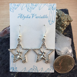 Silver Star Fairy Earrings - Earrings - AlphaVariable