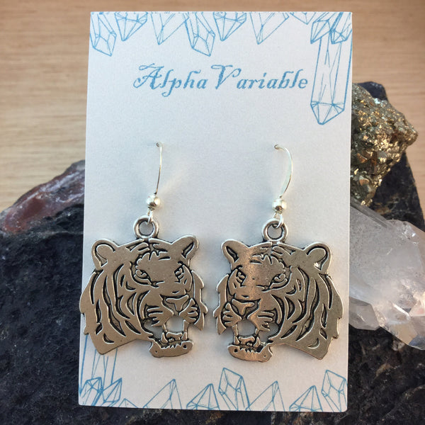 Tiger Earrings - Earrings - AlphaVariable