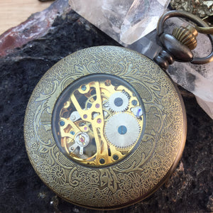 Pocket Watch - Pocket Watch Necklace - AlphaVariable